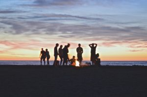 Teen party on Delaware beach